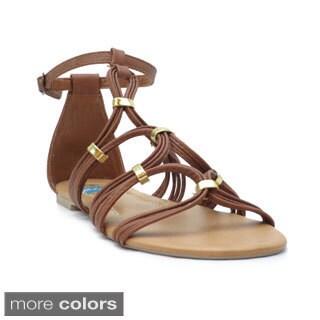 Blue Women's 'Kristen' Strappy Gladiator-inspired Flat Sandals