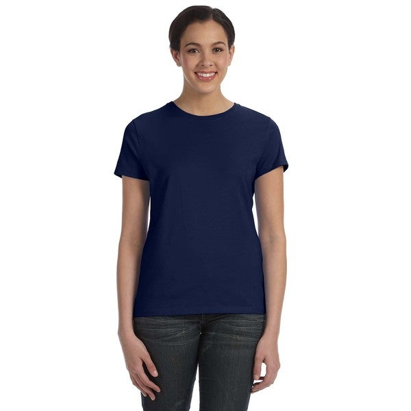 Women's Navy Ringspun Cotton Nano-T T-shirt