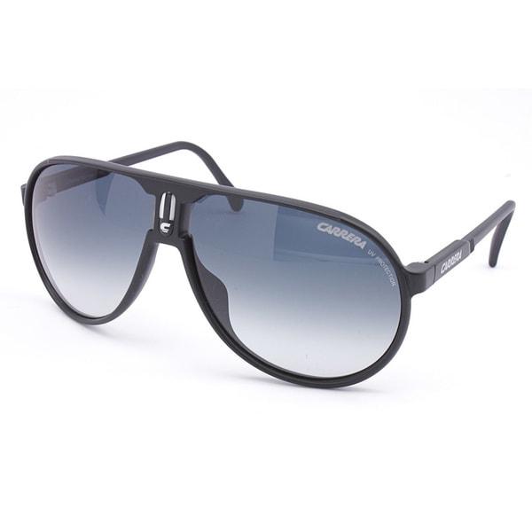 Carrera Men's 'Champion L/S' Matte Black Plastic Aviator Sunglasses