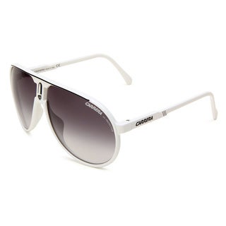 Carrera Unisex 'Champion/L/S' White/ Black Plastic Aviator Sunglasses