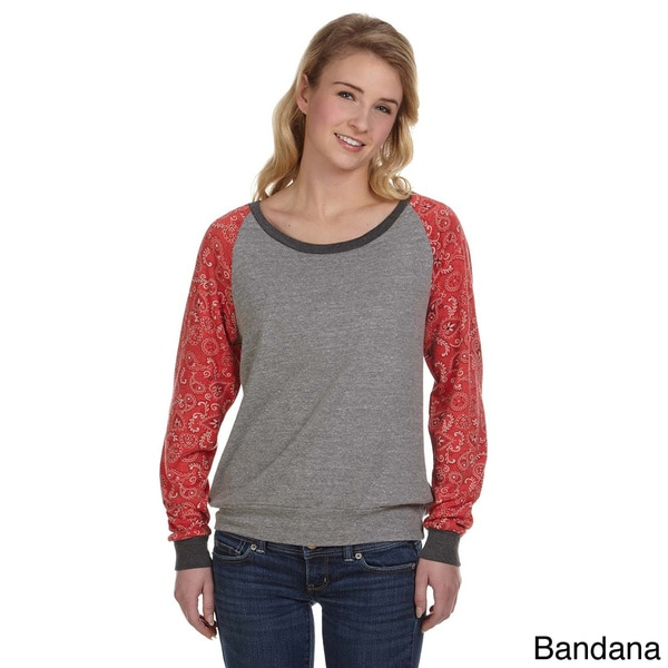 Alternative Women's Printed Slouchy Pull-over Sweater