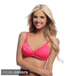 24/7 Frenzy Women's Unlined Wire-free Full Cup Bras (Pack of 6)