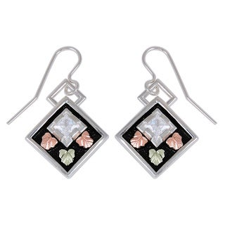Black Hills Gold and Silver Cubic Zirconia Earrings