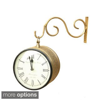 Timbergirl Ethnic 8-inch Station Wall Clock (India)