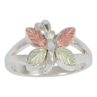 Black Hills Sterling Silver Gold and Silver Butterfly Ring