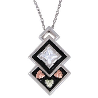 Black Hills Gold and Silver Cubic Zirconia Necklace