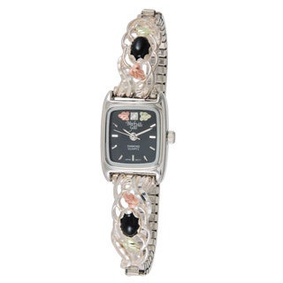 Black Hills Women's Gold and Silver Onyx Watch