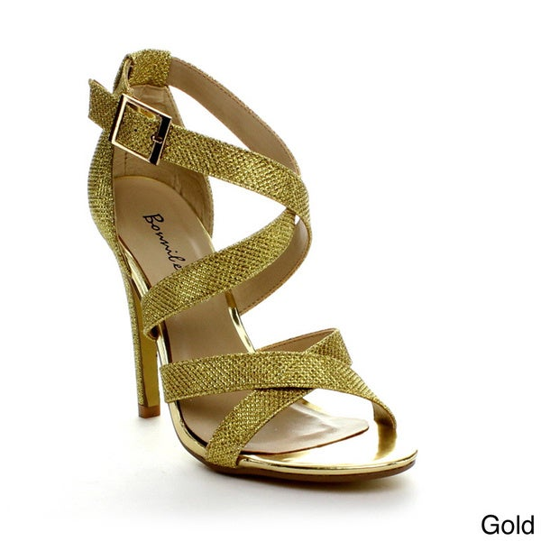 Bonnibel Lupid-1 Women's Glitter Ankle Strap Dress Sandals