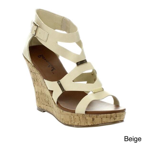 Bonnibel Modina-3 Women's Buckle Strap Cork Wedge Sandals