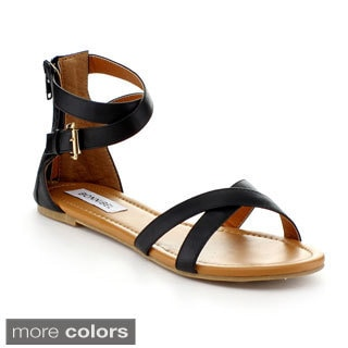 Bonnibel Otter-2 Women's Criss Cross Buckle Strap Sandal