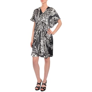 Escada Women's Swirling Loose-fit Silk Cocktail Dress