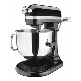 KitchenAid KSM7586POB Onyx Black 7-Quart Bowl Lift Stand Mixer