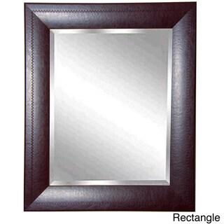 American Made Rayne Espresso Leather Wall Mirror
