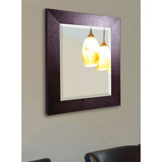 American Made Rayne Wide Brown Leather Wall Mirror