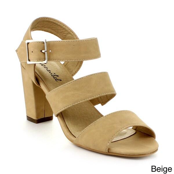 Bonnibel Beth-1 Women's Buckle Chunky Dress Sandals