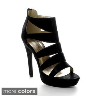 Bonnibel Sofia-2 Women's Strappy Back Zipper Stiletto Heel Platform