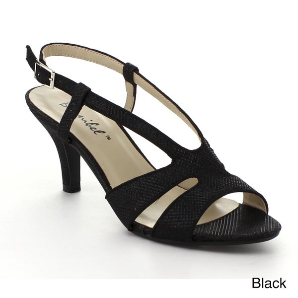Bonnibel Sisco-1 Women's Glitter Sling Back Buckle Strap Heels