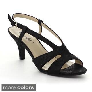 Bonnibel Sisco-1 Women's Glitter Sling Back Buckle Strap Dress Sandal