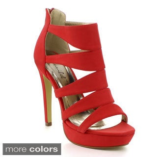 Bonnibel Sofia-4 Women's Strappy Back Zipper Stiletto Heel Sandals