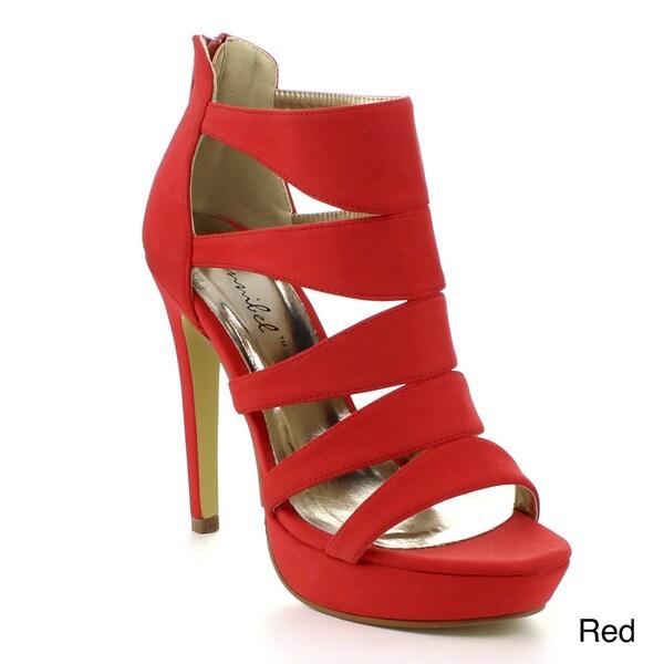 Bonnibel Sofia-4 Women's Strappy Back Zipper Stiletto Heels