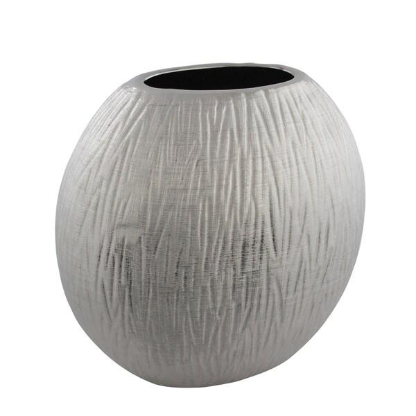 Silver Titanium Texture Vase