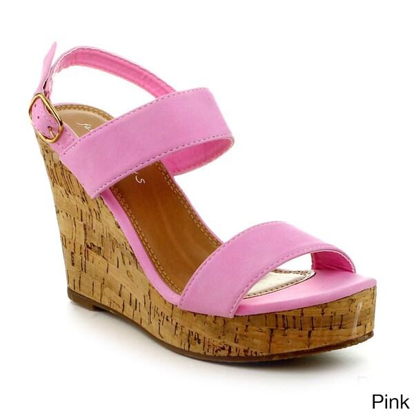 Fashion Focus Jenny-18 Women's Classic Wedge Open Toe Wedge Sandal