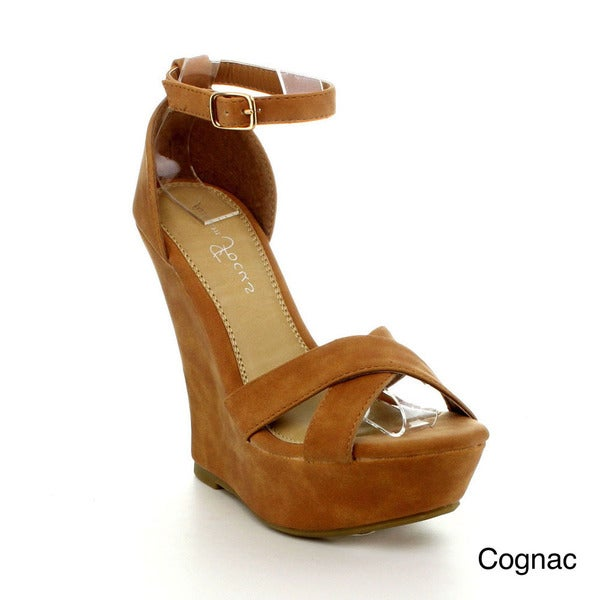 Fashion Focus Ardo-32 Women's Classic Open Toe Platform Wedge Sandals