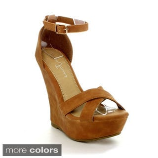 Fashion Focus Ardo-32 Women's Classic Open Toe Platform Wedge Sandals