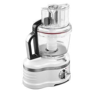 KitchenAid KFP1642FP 16-Cup Frosted Pearl White Food Processor with Commercial-Style Dicing