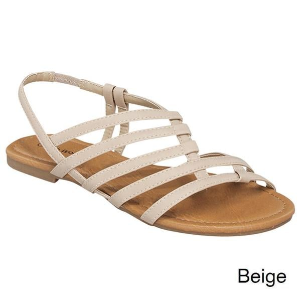 Top Moda Atm-33 Women's Casual Strappy Flat Sandals