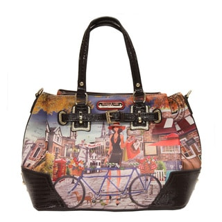 Nicole Lee 'Kimbriella' Bicycle Print Satchel Bag