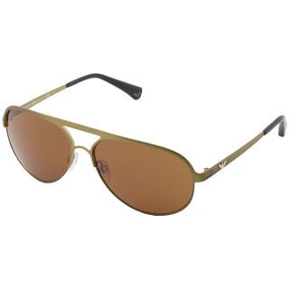 Emporio Armani Men's 'EA 2004' Metal Aviator Sunglasses