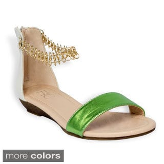 FFC New York Women's 'Mojo' Metallic Sandals