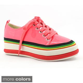 FFC New York Women's 'Rabi' Multicolored Patent Sneakers