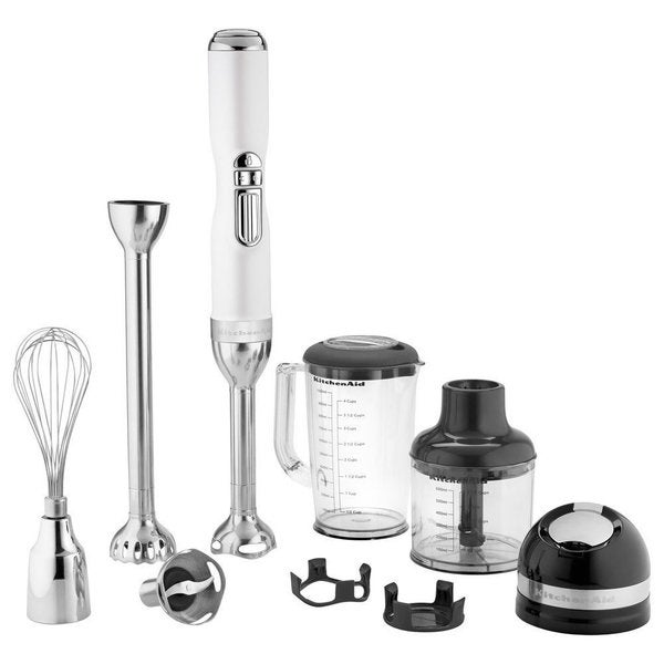 KitchenAid KHB3581FP Pro Line Series 5-Speed Frosted Pearl White Cordless Hand Blender