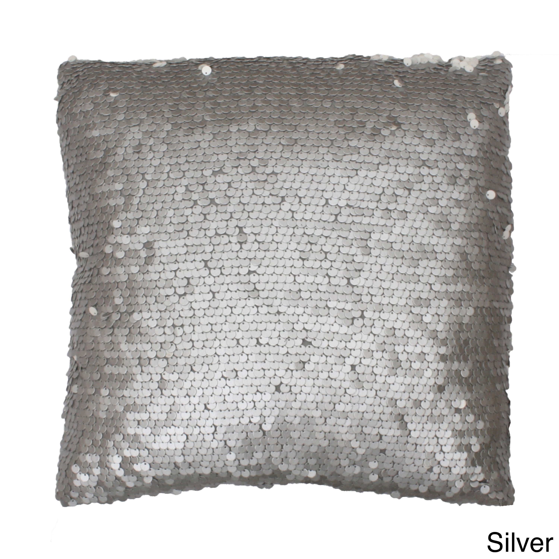 Thro Laguna Leather 18x18-inch Sequin Throw Pillow