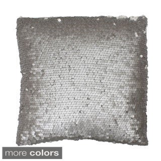 Laguna Leather 18x18-inch Sequin Throw Pillow