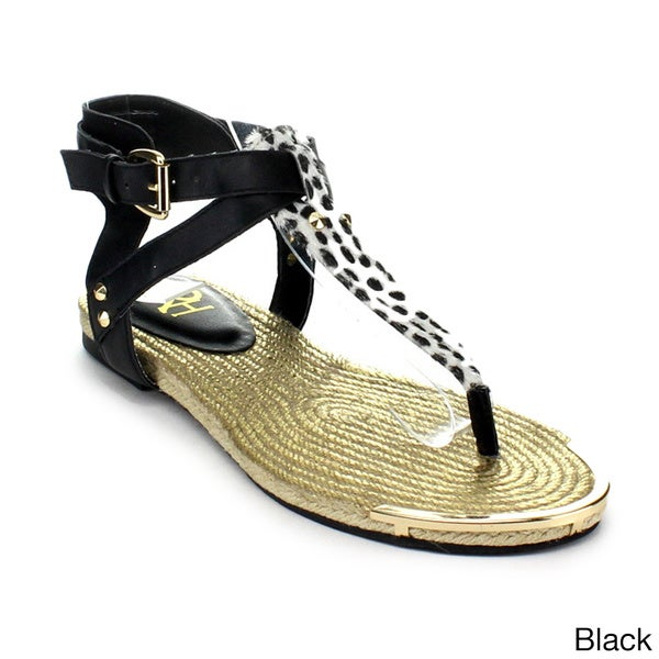 Fahrenheit Morena-07 Women's Hot New Fashion Strappy Thong Sandals
