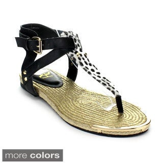 Fahrenheit Morena-07 Women's Hot New Fashion Strappy Thong Sandals