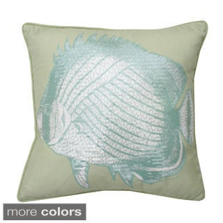 Morgan Fish 18x18-inch Feather Fill Throw Pillow
