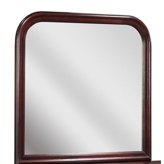Versailles Cherry Arched Square Portrait Mirror
