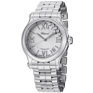 Chopard Women's 278559-3002 'Happy Sport Round' Stainless Steel Diamond Automatic Watch