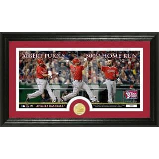 Albert Pujols 500 Home Runs Bronze Coin Panoramic Photo Mint