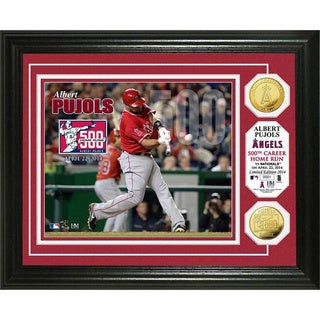 Albert Pujols 500 Home Runs Gold Coin Photo Mint