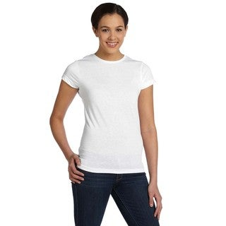 Juniors White Polyester T-shirt