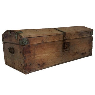 Gertrude Late 18th Century Wood Coach Trunk