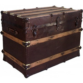Vintage Metal-covered 'Brownee' Box Trunk