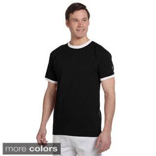 Champion Men's Tagless Ringer T-shirt