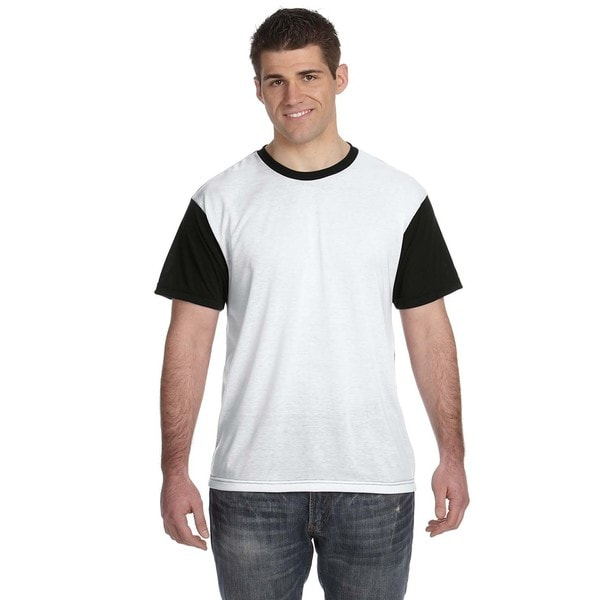 Men's White and Black Blackout T-shirt