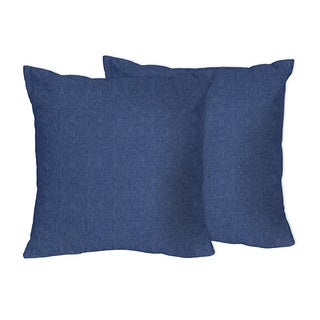 Sweet Jojo Designs Denim Throw Pillows - (Set of 2)